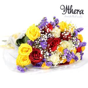 Multi coloured hand bouquet