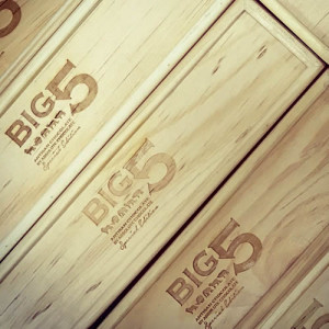 Big 5 chocolate Gift Box (Wooden package)