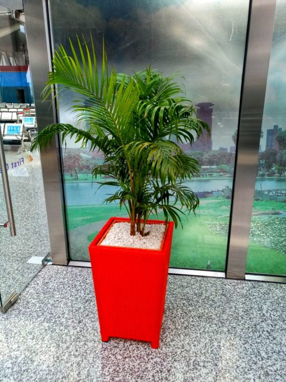 Tower basket synthetic Rattan planter