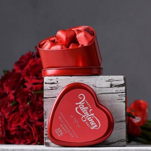 Valentines heart truffles