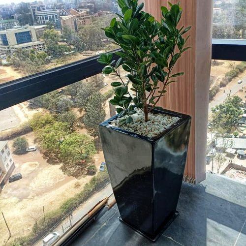 Tower fiber planter