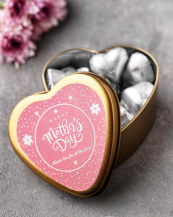 Mothers day chocolate hearts